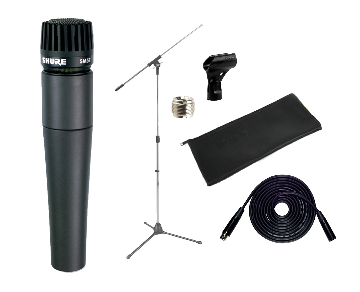 Shure SM57 Instrument Mic +XLR Cable + Stand SM57LC 57